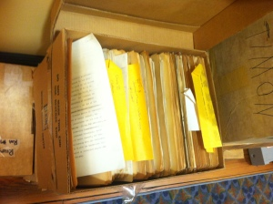 One of the eight boxes of research that arrived in Novenmber