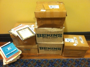 Six of the eight boxes we received in November.