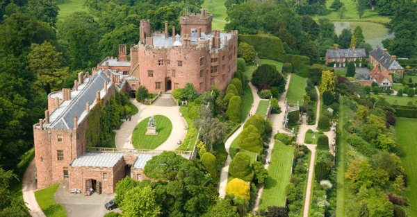 Powis CastleAerial North Castles Historic Sites
